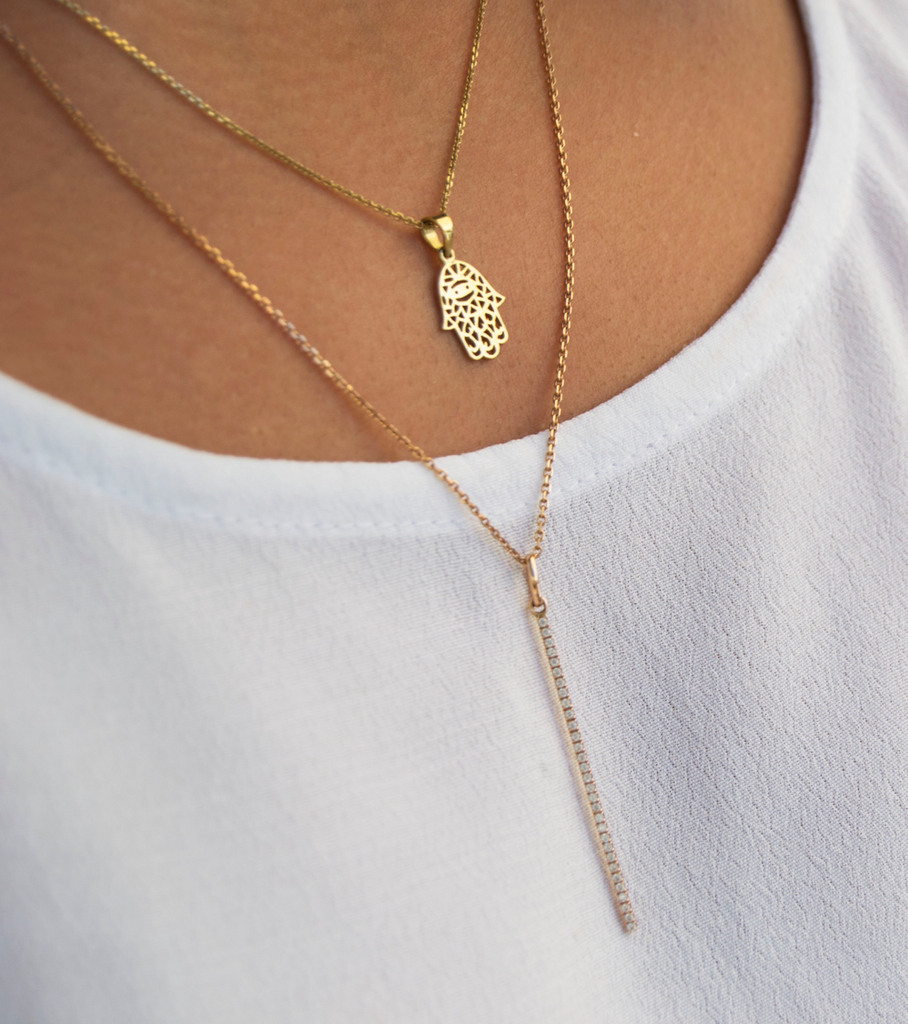 Diamond Skinny Bar Necklace