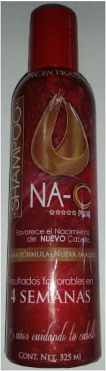 SHAMPOO NA C PLUS CONCENTRADO ROJO 325ML.