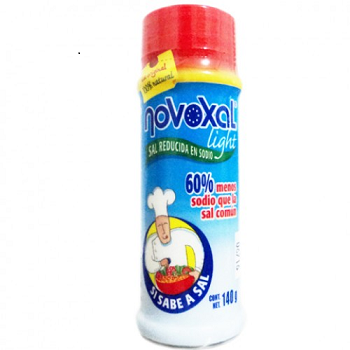 NOVOXAL LIGHT  SAL YODADA REDUCIDA EN SODIO 140GR.
