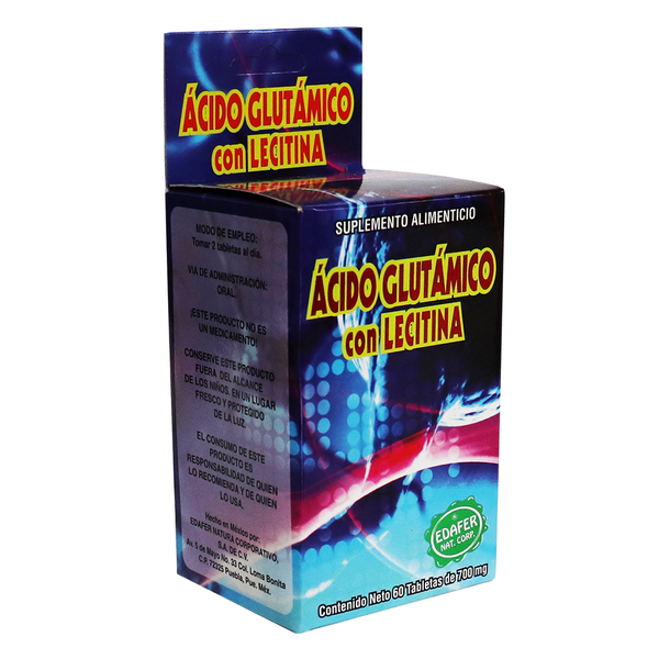 TBS. ACIDO GLUTAMICO CON LECITINA C/60