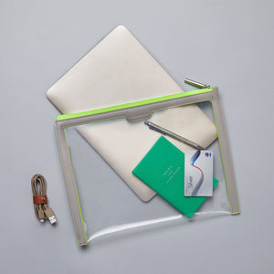 Anywhere Everywhere Portfolio Wallet - Walnut Neon Green