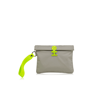 Wet Bag  Small - Walnut Neon Green