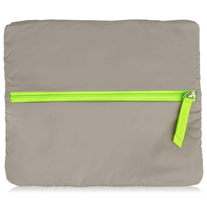 Wet Bag Large  - Walnut Neon Green