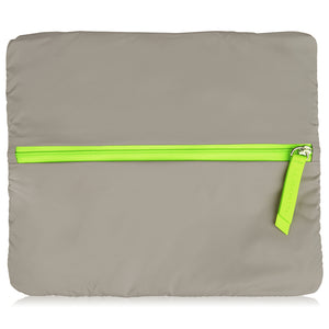 No Excuses Large - Walnut Neon Green