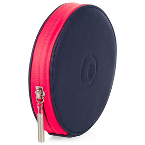 Circle Purse -Midnight Neon Pink