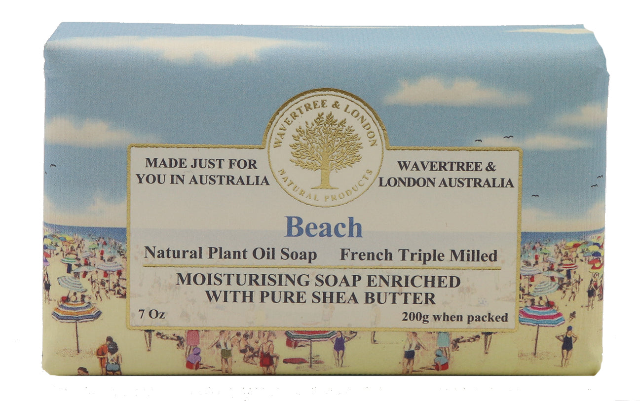 beach soap 100% Certified Sustainable pure plant oils and organic shea butter with no added color or artificial preservatives