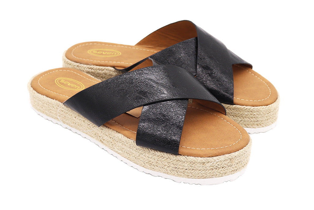 Women's black sandals straw weave bottom heel, flip flop sandals. Casual, comfy and stylish great for summer, party or vacation shoes. Platform Sandals. Women Shoes. Straw Shoes. Platform shoes. Size 5, Size 6, Size 7, Size 8, Size 9, Size 10 Sandals. Sold by SDTrading Co.