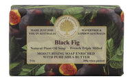 black fig Australian made soaps No SLS, Parabens, detergents or harsh chemicals. Our moistuzing soap is mild and non-drying.