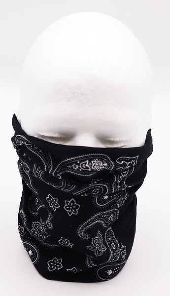 Paisley black face mask, protection, mask, covid, covid-19 protection, corona virus protection, corona virus, self protection, bandana, bandanas, bandana face mask, headscarf, bandana headscarf, paisley face mask, classic bandana face mask