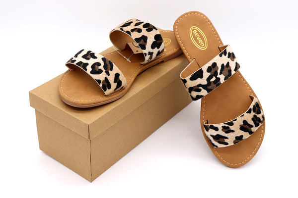 Cheetah sandals, women shoes, women sandals, flat sandals, cheetah print, double strap slip on sandals. Faux vegan material hair like fibers. Women Sandals. Size 5, Size 6, Size 7, Size 8, Size 9, Size 10 Sandals.
