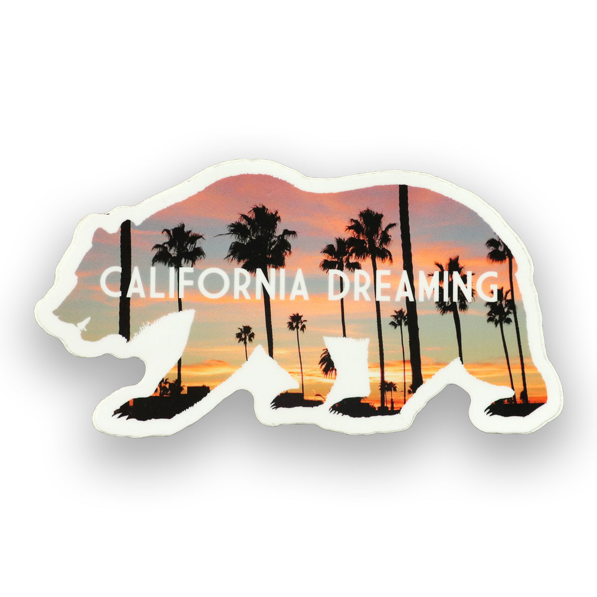 California Dreaming Bear Sticker