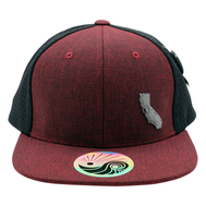 Jersey Mesh Hat : Cali Map - Burgundy