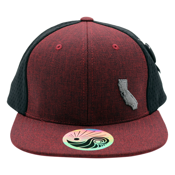 Cali Map Jersey Burgundy/Black