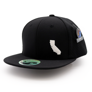 Jersey Mesh Hat : Cali Map - Black