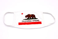 Face Mask California Strong, Adult, San Diego Trading Comapny, 2-Layer Protection, Adult, Wide Coverage, Cali, CA, USA, America, Bear, Republic, SDTC