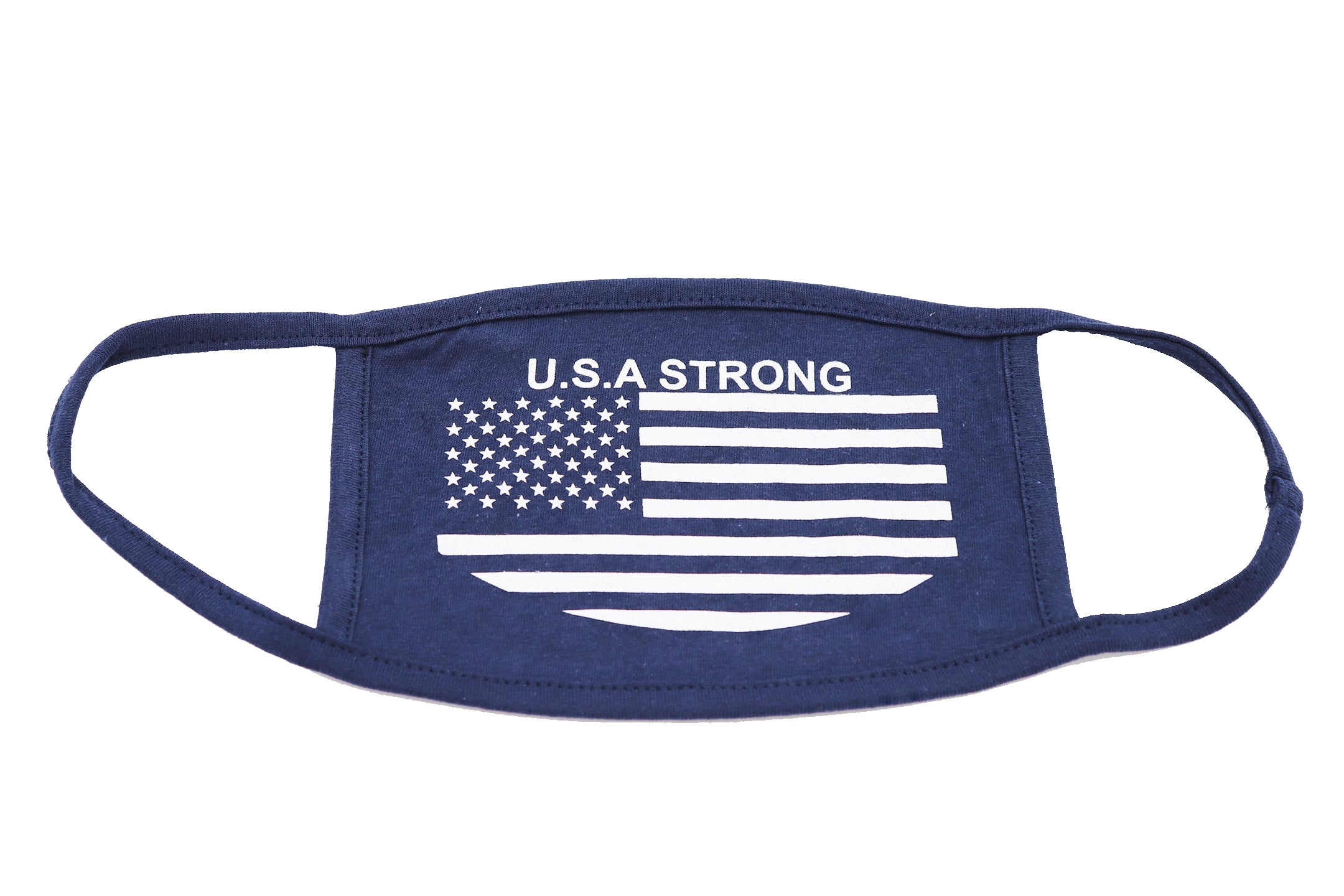 Face mask adult men or women. USA Strong Navy OSFM (one size fits most) wide coverage. Sold by SDTrading Co.