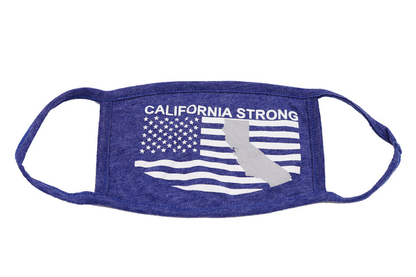 Face Mask California Strong, Adult, San Diego Trading Comapny, 2-Layer Protection, Adult, Wide Coverage, Cali, CA, USA, America