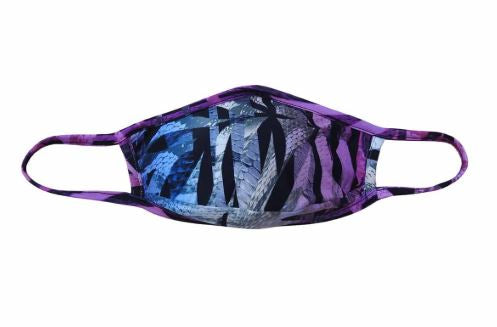 Face mask Face mask adult Men or Women unisex one size fits most protective mask.  Congo snake leaf blue and purple pattern. Sold by SDTrading Co.