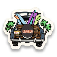 Coronado Surf Woody Sticker