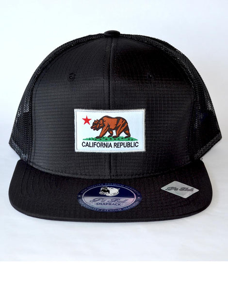 California Flag Patch Hat- BLACK