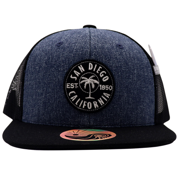 Invest Palm Embroidered Patch Trucker Snapback