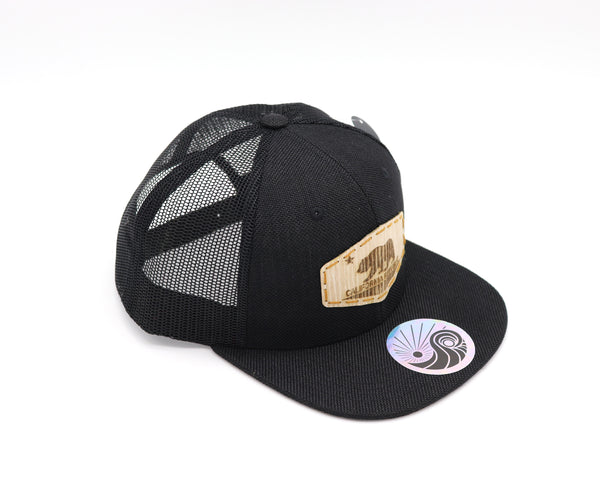 Ca Flag Wood Patch Snapback