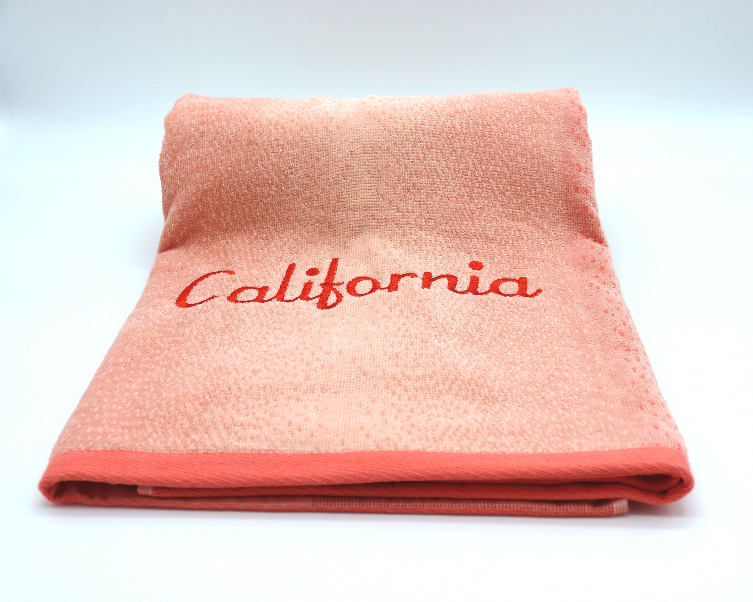 California peach large beach  bath towel. Beautiful memento keep sake gift. Great for vacations or gift to a friend.