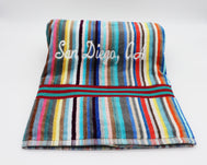 SD MULTI STRIPE VELOUR TOWEL