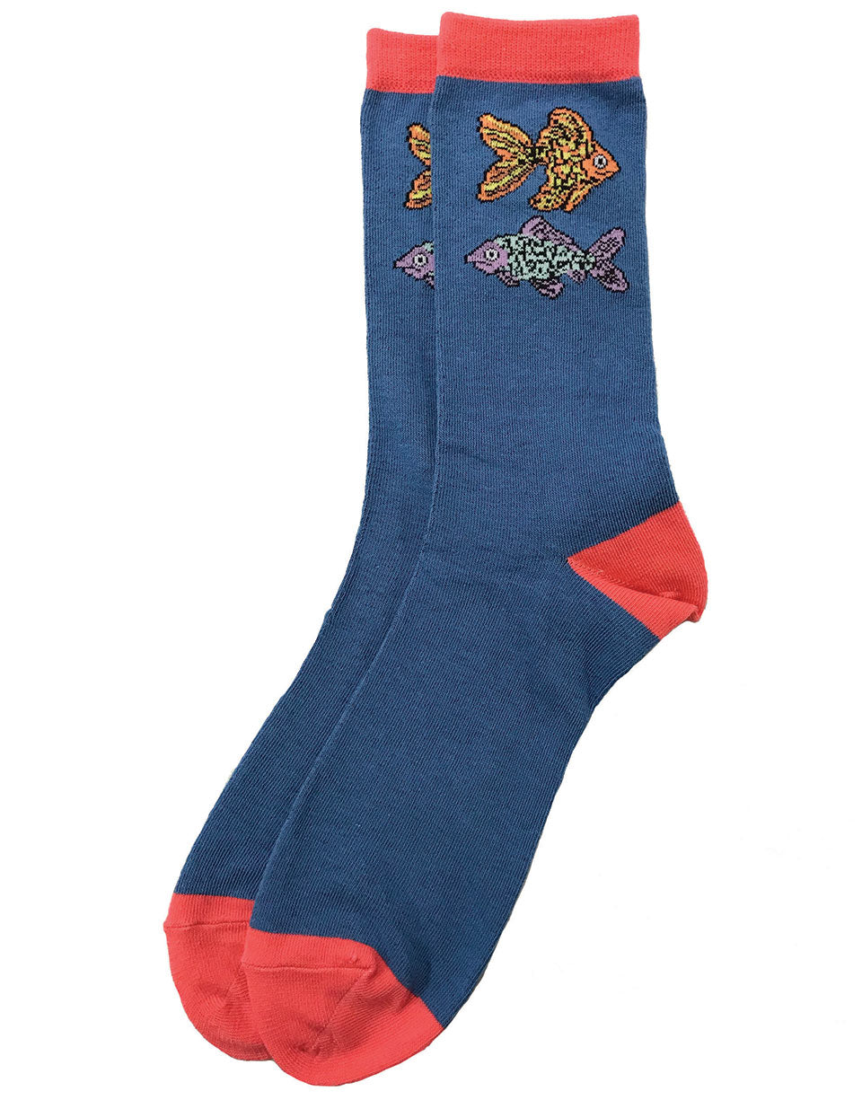 Fish tropical socks, unisex for men or women. Look super cute on your next summer vacation. Bring these along with your happy attitude. Sold exclusively by SDTrading Co.