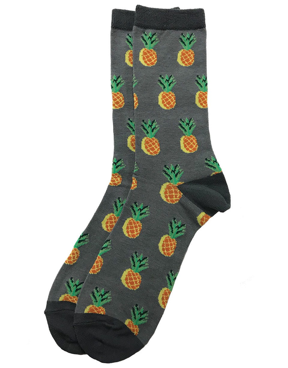 Unisex Men or Women fun bright golden pineapple dressy fun socks  that are ready for you to take them on  a spin to transform your outfit. These socks are comfortable,  fashionable  and make a statement. Sold by SDTrading Co.