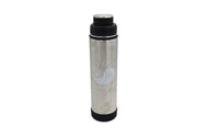 Insulated Thermos color silver 20oz insulated stainless steel water bottle with removable strainer and dual opening lid BPA Free, BPS Free, and Phthalate Free. Keeps water cool all day. Can add fruit or tea to strainer for flavored drink.