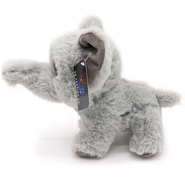 Elephant stuffed plush toy. Super cute fuzzy grey elephant makes a great gift for baby, baby shower, birthday, or animal lover. Get your blue eyed googly eye plush now. This design is unique and comes with embroidered San Diego. Sold by SDTrading Co.
