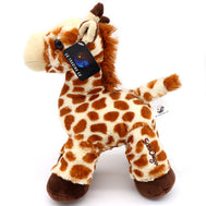 Giraffe plush animal with San Diego embroidery. This a realistic looking giraffe with brown spots. Very cuddly and adorable. Makes for a perfect gift. Design and Sold by SDTrading Co.