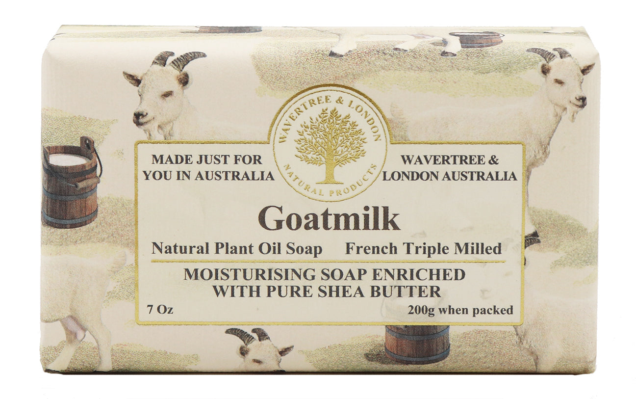 Goat Milk Australian made soaps No SLS, Parabens, detergents or harsh chemicals. Our moistuzing soap is mild and non-drying.