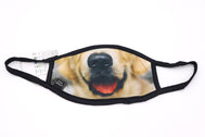 Face Mask wide coverage dog smiling golden retriever face mask adults for women or men. Helps with protection, washable mask protection, corona virus protection, corona virus, self protection, reusable face mask, re-usable mask, cool max, made in the usa.