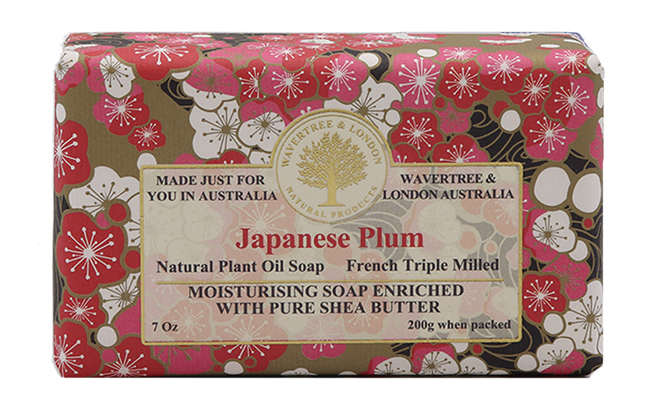Japanese Plum Soap Australian made soaps No SLS, Parabens, detergents or harsh chemicals. Our moistuzing soap is mild and non-drying.