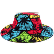 retro palm trees boys bucket hat with a wide brim perfect for beach days