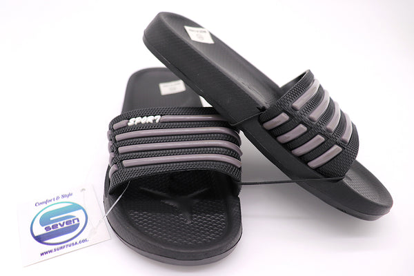 Boys Footwear : Slide Sandals - Black