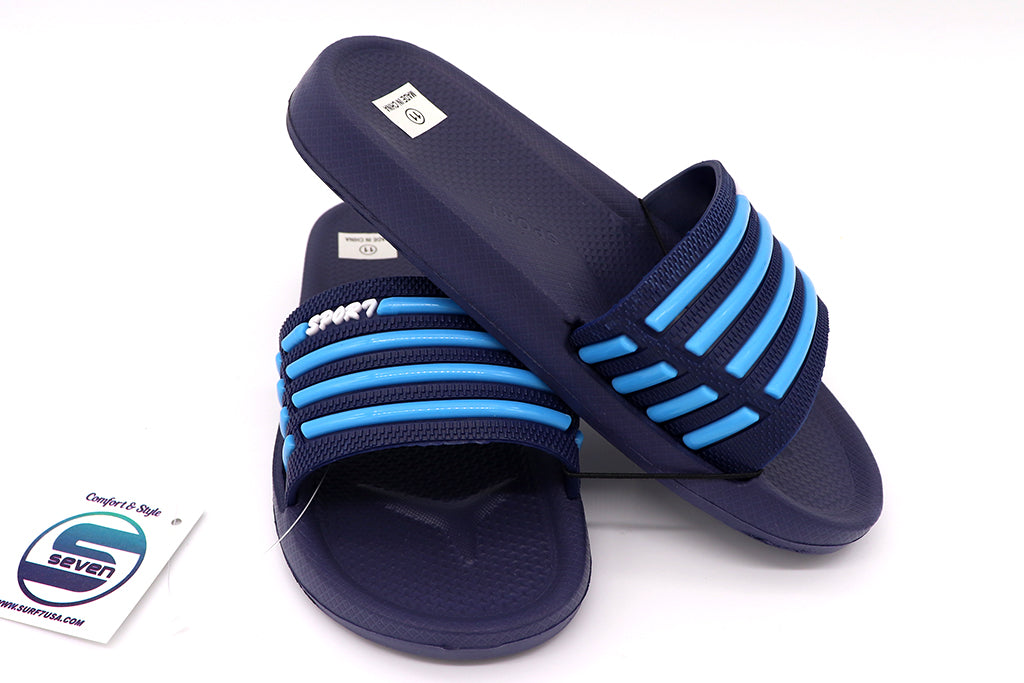 Boys sandals open toe slip on for everyday wear indoor or outdoor. Home shoes for kids or beach, pool, lake, and or summer. Comfy shoes can be worn barefoot or with socks. Sold by SDTrading Co.
