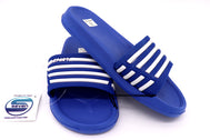 Boys sandals Royal Blue open toe slip on for everyday wear indoor or outdoor. Home shoes for kids or beach, pool, lake, and or summer. Comfy shoes can be worn barefoot or with socks. Sold by SDTrading Co.