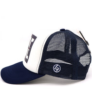 Kids Trucker Awesome Dude in Navy with breathable mesh. Foam white front with black square, large white Dude word, and streaked in the middle with rainbow colored solid letters awesome.Cool summer hat for youth, boys, girls, and even toddler with snapback. Kids baseball hat Sold by SDtrading Co.