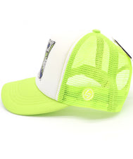 Kids Trucker Hat I'm with cool boy. Printed foam front with neon signs that read I love guys, yo, cool dude and more with yellow mesh. Great summer, beach, ocean hat for youth, boys, girls, and even toddler with snapback. Kids baseball hat Sold by SDtrading Co.