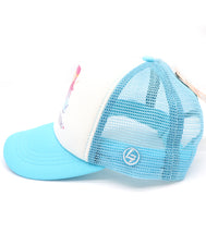 Amazing mermaid baseball hat for girl's ages 3-7. Turquoise hat with mermaid and mermazing text for everyday, summer, beach, ocean hat for youth, boys, girls, and even toddler with snapback. Kids baseball hat Sold by SDtrading Co.