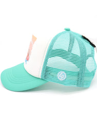 Slow down, relaxing on a tube in a pool or beach funny baseball hat for kids. Comfy trucker style mesh panels, foam front, and adjustable snapback. Made for children youth, boys, girls, and even toddler with snapback. Kids baseball hat Sold by SDtrading Co.