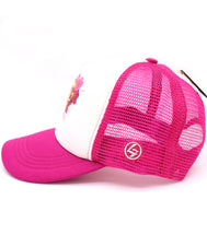 Super girl hot pink hat for super hero girls. Comfy trucker style mesh panels, foam front, and adjustable snapback. Made for children youth, boys, girls, and even toddler with snapback. Kids baseball hat Sold by SDtrading Co.