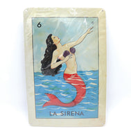 La Sirena loteria card stamped on a metal sheet frame in full color in its packaging a perfect home décor gift for anyone. Loteria Mexicana la sirena. Mexican gift, family gift, Don Clemente inspired. Sold by SDTrading Co.
