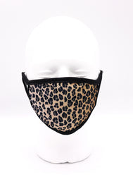Leopard Mask Reusable Face Mask, Face mask, protection, mask, covid, covid-19 protection, corona virus protection, corona virus, self protection, reusable face mask, re-usable mask, cool max, made in the usa