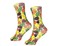 Lollipop fun crazy socks for kids, youth or adults. How many licks to the center? Bright cheery colored lollipops for a fun out going outfit.
