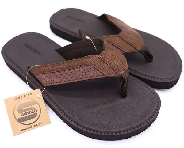 Men Sandals : Suede Leather Upper Sole Flip Flops
