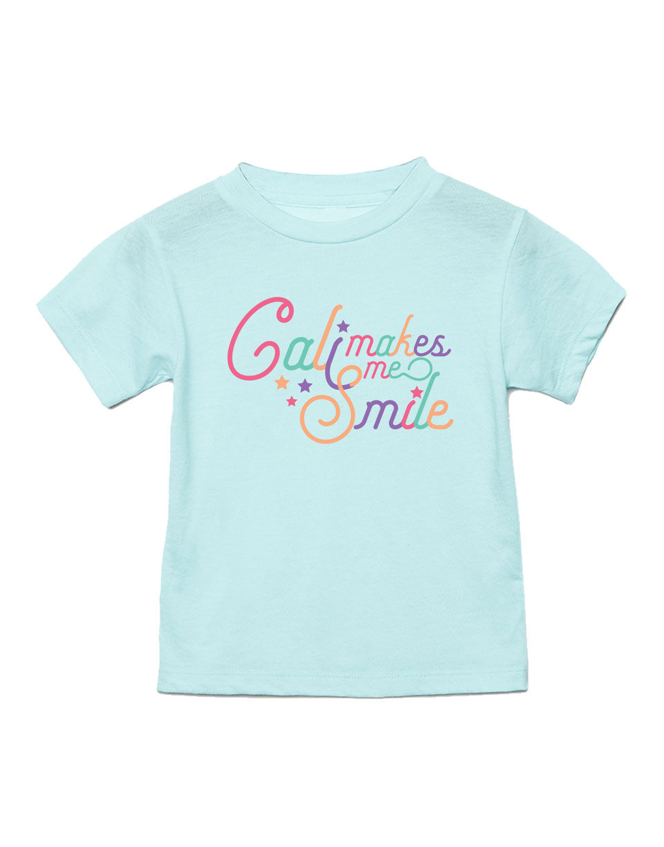 Cali Makes Me Smile Toddler Tee